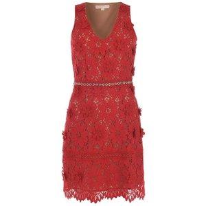 Michael Michael Kors Michael Kors Lace Dress Womens Size: 4 (3xs), Scarlet