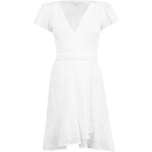 Michael Michael Kors Midi Wrap Dress Size: 12 (m), 100 White
