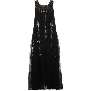 Mimi Liberte Net Maxi Dress Size: 12 (40), Black 02