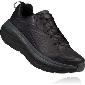 Hoka Bondi Leather Womens Running Shoes Black 461427, Black