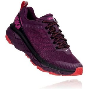 Hoka Challenger Atr 5 Womens Running Shoes Italian Plum/poppy Red 689912, Italian Plum/Poppy Red