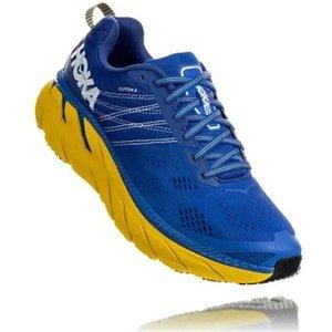 Hoka Clifton 6 Running Shoes Nebulas Blue/lemon 690015, Nebulas Blue/Lemon