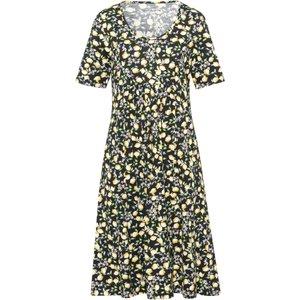 Jersey Dress In 100% Cotton Lemon Print Green Cotton Multicoloured Black/yellow/multicoloured 147192460, black/yellow/multicoloured