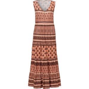 Jersey Dress In 100% Cotton Ornamental Print Green Cotton Multicoloured Cinnamon/multicoloured 147348400, cinnamon/multicoloured