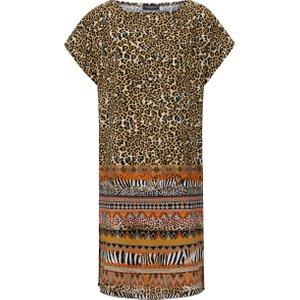 Leopard Print Dress Grimaldimare Multicoloured  244038365