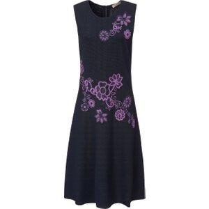 Sleeveless Knitted Dress Uta Raasch Multicoloured Navy/multi Coloured 101097460, navy/multi-coloured