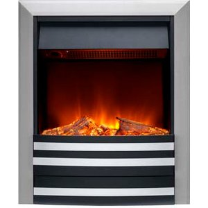 Burley 175r-ss Overton Inset Electric Fire Stainless Steel Heating & Cooling