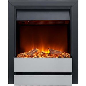 Burley 176r-bl-ss Wardley Inset Electric Fire Black & Stainless Steel Heating & Cooling