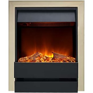 Burley 176r-br-bl Wardley Inset Electric Fire Brass & Black Heating & Cooling