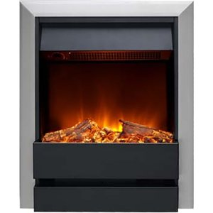 Burley 176r-ss-bl Wardley Inset Electric Fire Stainless Steel & Black