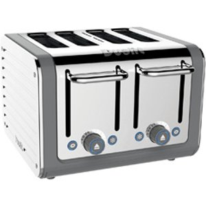 Dualit 46526 Architect Toaster 4 Slice Grey Stainless Steel Small Appliances