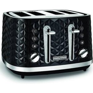Morphy Richards Black Vector 4 Slice Toaster 248131 Small Appliances
