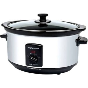 Morphy Richards Sear and Stew Digital Slow Cooker 3.5L 460015 Red Slowcooker