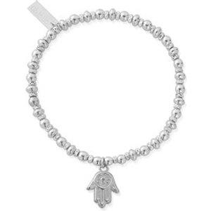Chlobo Silver Cute Hamsa Hand Bracelet - Silver Sbcc607 Womens Jewellery, Silver