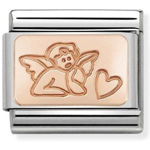 Nomination Rose Gold Angel Of Love Charm 430101/44 Womens Jewellery, Rose Gold