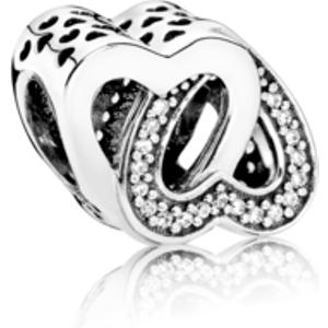 Pandora Entwined Love Charm Silver 791880cz Womens Jewellery, Silver