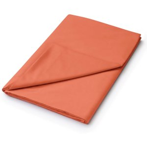 Helena Springfield 50/50 Plain Dye Percale Super Kingsize Flat Sheet, Coral Fshhlpx8cor, Coral