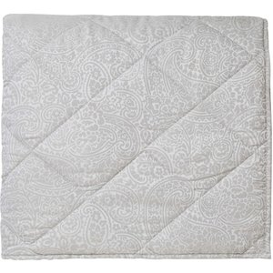 Bedeck 1951 Avari Kingsize Quilted Throw, Silver Qtbavas3sil, Silver