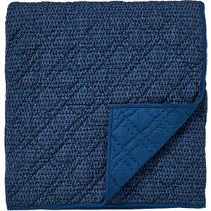 Bedeck 1951, Tamar Quilted Throw, Indigo Home Textiles, Indigo