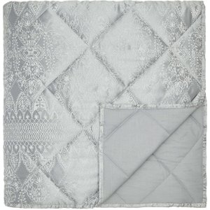By Bedeck Indira Double Quilted Throw, Silver Qtbinds2sil , Silver