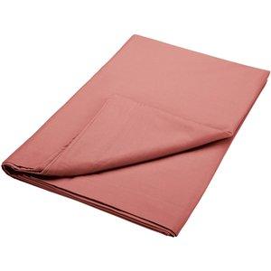 Bedeck Of Belfast 200 Thread Count Pima Cotton Plain Dye Kingsize Flat Sheet, Marsala Fshbp2r3mar, Marsala