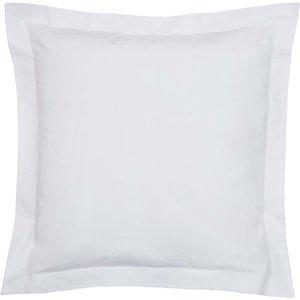Bedeck Of Belfast 200 Thread Count Pima Cotton Plain Dye Large Square Oxford Pillowcase, W White Ducbp2wswhi, White