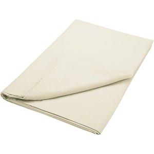 Bedeck Of Belfast 200 Thread Count Pima Cotton Plain Dye Double Flat Sheet, Cashmere Fshbp2h2cas, Cashmere