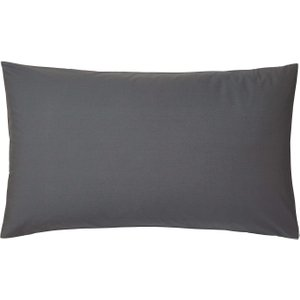 Bedeck Of Belfast 200 Thread Count Plain Dye Large Housewife Pillowcase, Graphite Furniture Accessories, Graphite