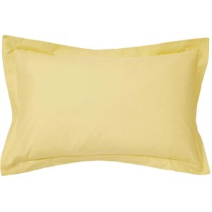 Bedeck Of Belfast 200 Thread Count Plain Dye Oxford Pillowcase, Citrine Ducbb2cocit , Citrine