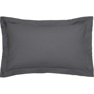 Bedeck Of Belfast 200 Thread Count Plain Dye Oxford Pillowcase, Graphite Furniture Accessories, Graphite
