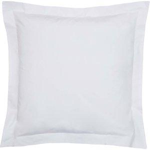 Bedeck Of Belfast 200 Thread Count Plain Dye Square Oxford Pillowcase, White Furniture Accessories, White