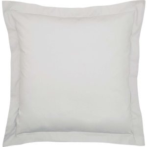 Bedeck Of Belfast 200 Thread Count Plain Dye Square Oxford Pillowcase, Silver Ducbb2sssil , Silver