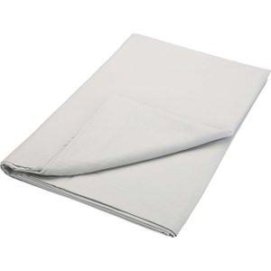 Bedeck Of Belfast 200 Thread Count Plain Dye Super Kingsize Flat Sheet, Silver Furniture Accessories, Silver