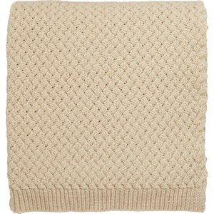 Bedeck Of Belfast Agra Knitted Throw, Linen Natural Home Textiles, Natural