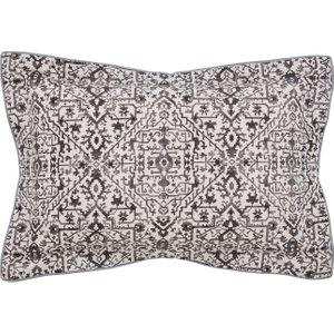 Bedeck Of Belfast Dhaka Oxford Pillowcase, Charcoal Ducdhacocha, Charcoal