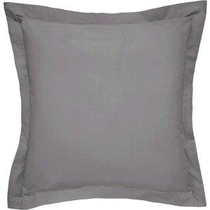 Bedeck Of Belfast Fine Linens 300 Thread Count Egyptian Cotton Square Oxford Pillowcase, C Charcoal Ducbb3cscha, Charcoal