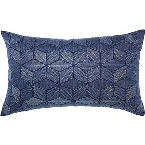 Bedeck Of Belfast Fine Linens Osaka Cushion 40cm X 60cm, Midnight Cshosamcmid, Midnight