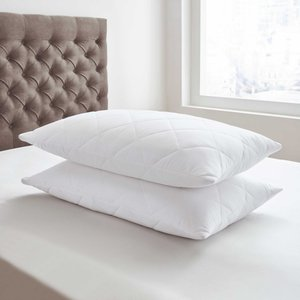Bedeck Of Belfast Quilted Cotton Pillowcase Protectors White Probbqcpwhip, White