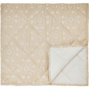 Bedeck Tamsin Kingsize Quilted Throw, Linen Home Textiles, Linen
