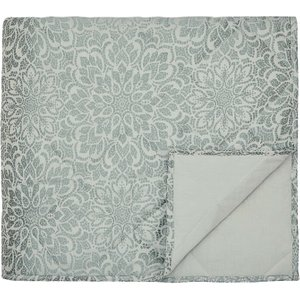 Bedeck Zahra Double Quilted Throw, Duck Egg Qtbzrad2duc , Duck Egg