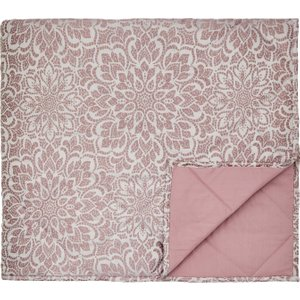 Bedeck Zahra Double Quilted Throw, Rose Qtbzrar2ros , Rose