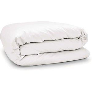 By Bedeck 500 Thread Count Plain Dye Double Duvet Cover, White-b Ducpp5w2whi B