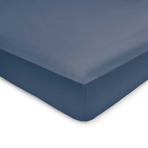 By Bedeck 500 Thread Count Plain Dye Single Fitted Sheet, Navy Ftspp5d1den, Navy