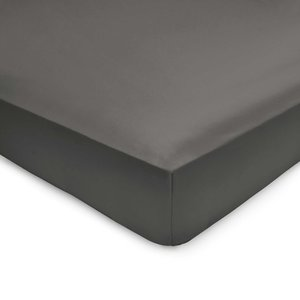 By Bedeck 500 Thread Count Plain Dye Single Fitted Sheet, Grey Ftspp5g1cha, Grey