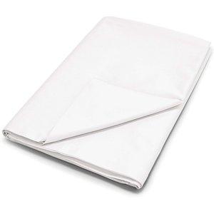 By Bedeck 500 Thread Count Plain Dye Single Flat Sheet, White Fshpp5w1whi, White