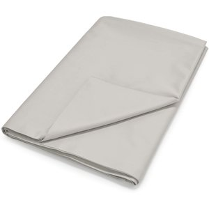 By Bedeck 500 Thread Count Plain Dye Super Kingsize Flat Sheet, Silver Fshpp5s8sil B, Silver