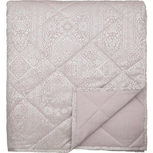 By Bedeck Etana Kingsize Quilted Throw, Soft Pink Qtbetap3pin , Soft Pink