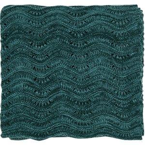 Clarissa Hulse Bedding Dill Knitted Throw, Aqua , Aqua