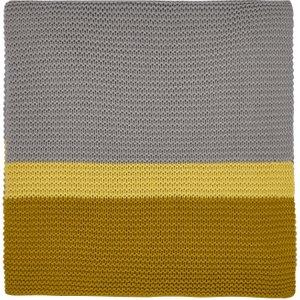 Clarissa Hulse Bedding Espinillo Knitted Throw, Turmeric , Turmeric