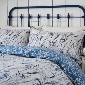 Clarissa Hulse Blowing Grasses Kingsize Duvet Cover, Blue Furniture Accessories